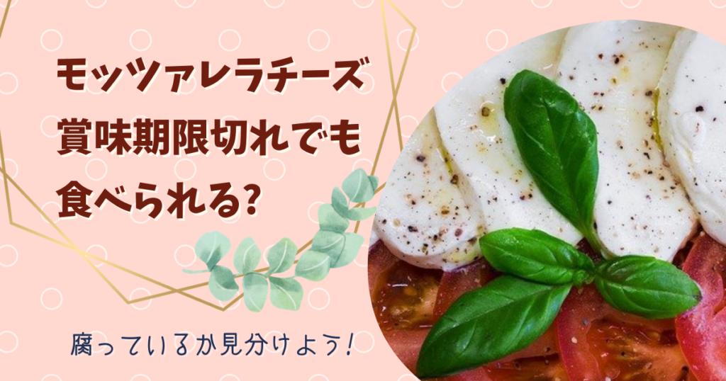 モッツァレラチーズは賞味期限切れでも食べられる?